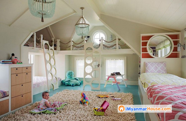 သားသားမီးမီးတွေအတွက် ချစ်စဖွယ်အိပ်ခန်း အပြင်အဆင်
